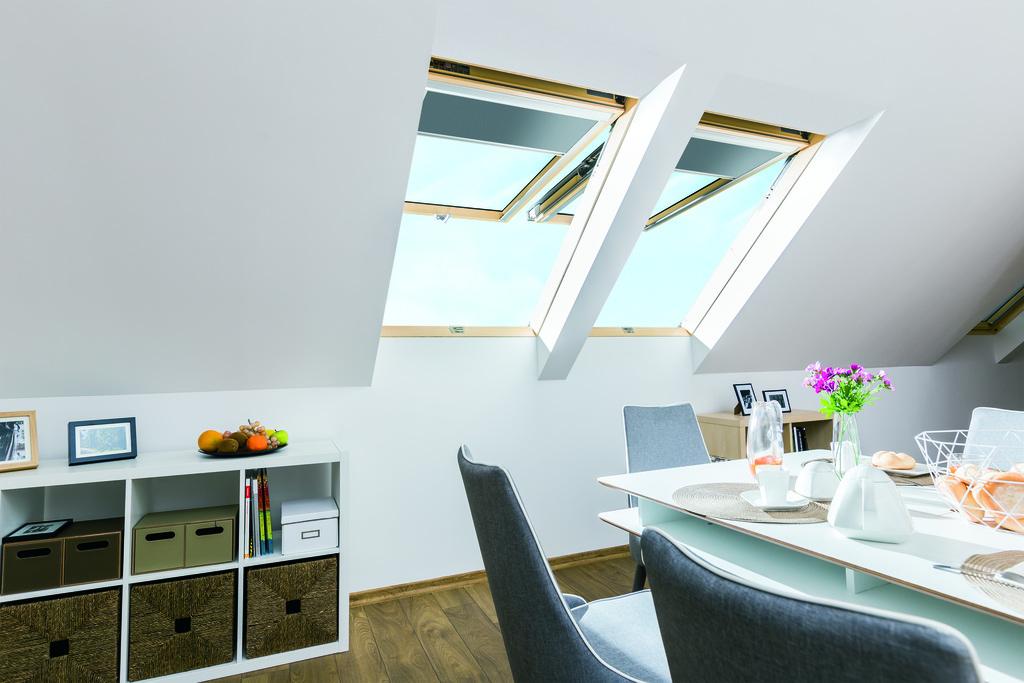 çatı katı tavan çift açılımlı pivot çatı pencereleri