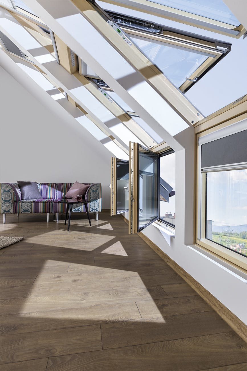 Dekoratif L kombinasyonlu çatı pencereleri