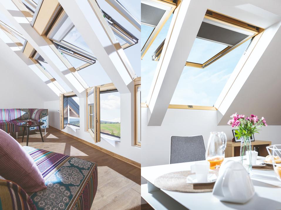 fakro çift açılımlı pivot çatı pencereleri