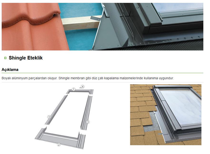 dekoratif çatı penceresi eteklikleri